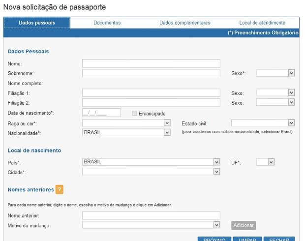 Renovação de Passaporte